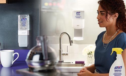 Purell pour la d�sinfection des mains et des surfaces EN14476