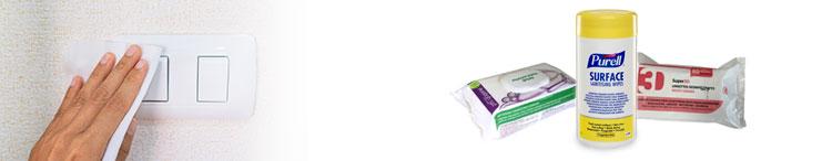 Lingettes d�sinfectantes en14476 virucide